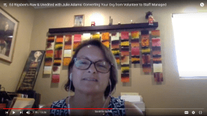 Julie Adams on staff vs volunteer managed