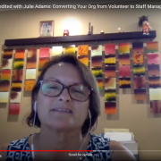 Julie Adams on staff vs volunteer managed