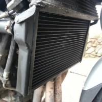 Replacement Radiator on Honda CBR1100 Super Blackbird