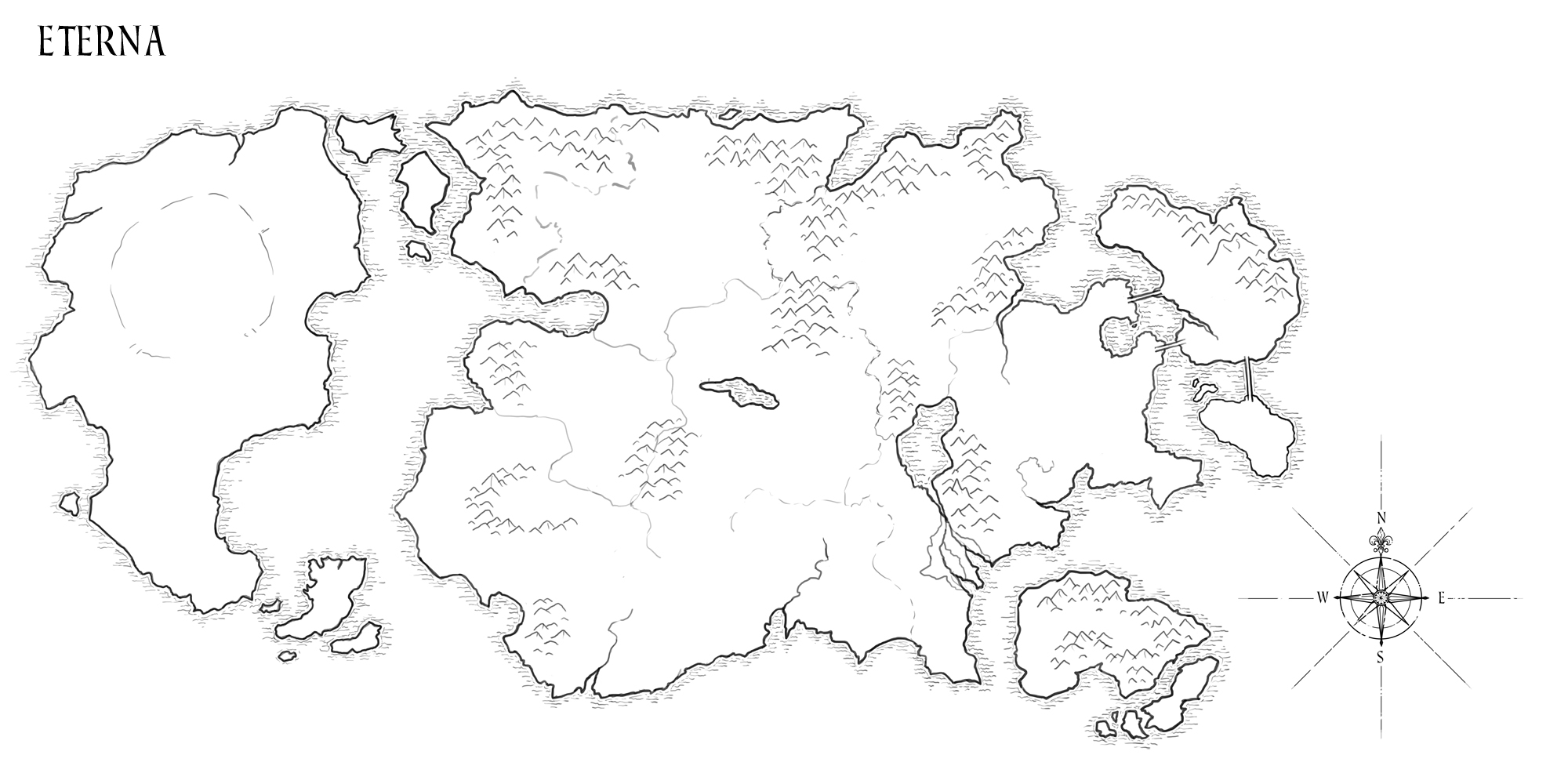 Blank Fantasy Map Template