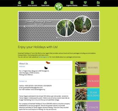 TRAVEL AGENCY WEBSITE FOR TAMAN NEGARA MALAYSIA
