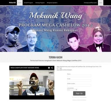 EVENT WEBSITE FOR MEKANIK WANG