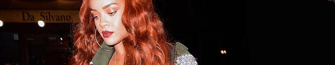 Rihanna dines at Da Silvano