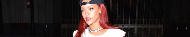 Rihanna out in NYC yesterday