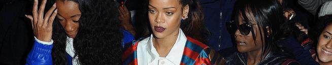 Rihanna leaving the Eiffel Tower