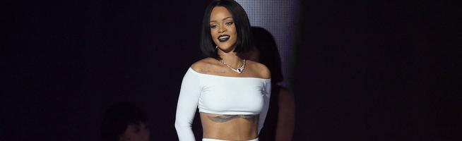 Rihanna performs at BRIT Awards