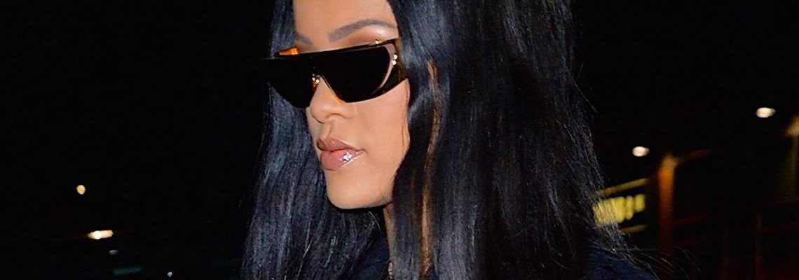 Rihanna out in New York yesterday