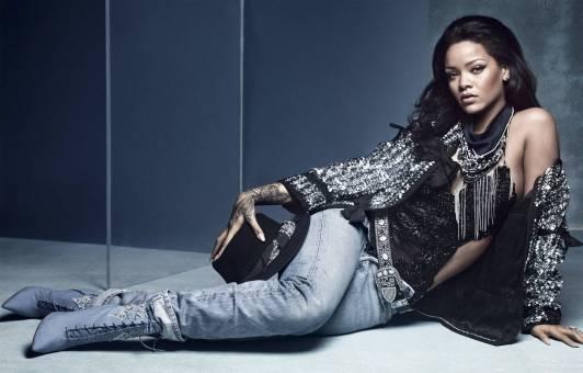 Rihanna on the cover of British Vogue, April 2016 Denim Desserts