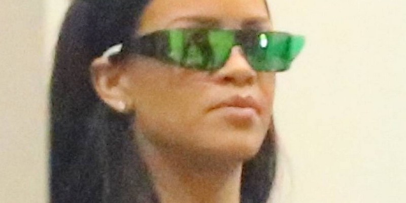 Rihanna spotted at a recording studio
