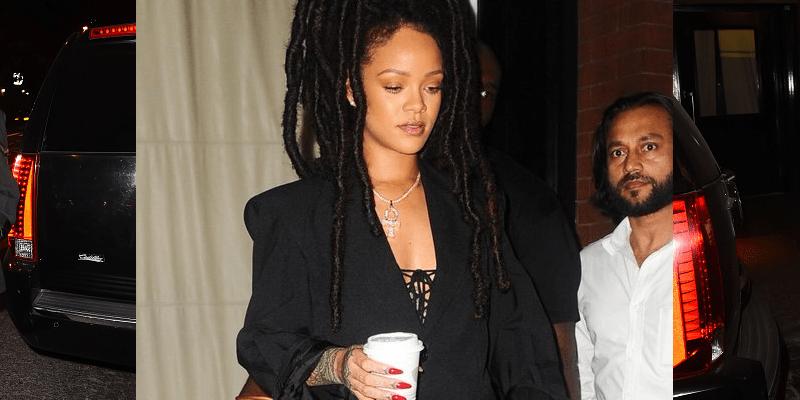 Rihanna spotted in Soho