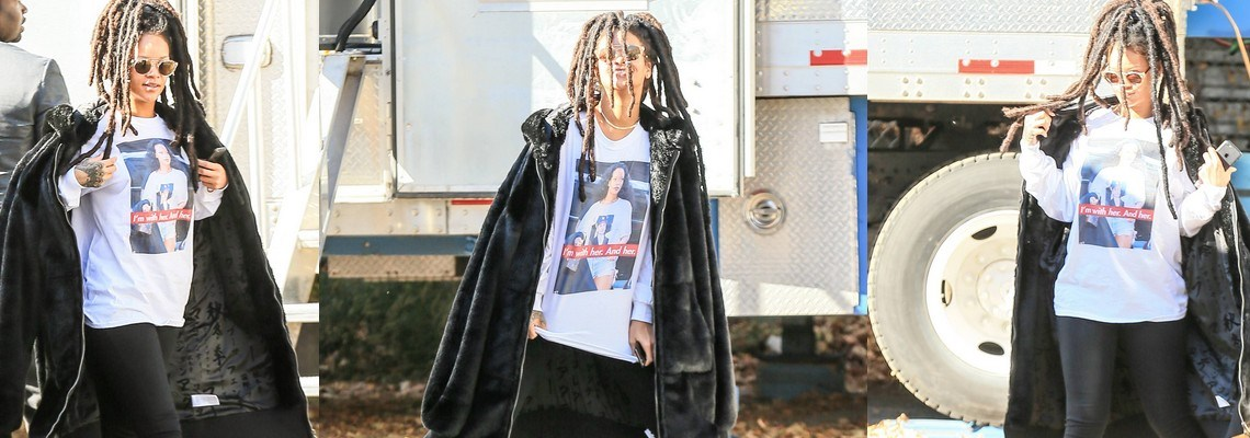 Rihanna shows her support for Hillary Clinton