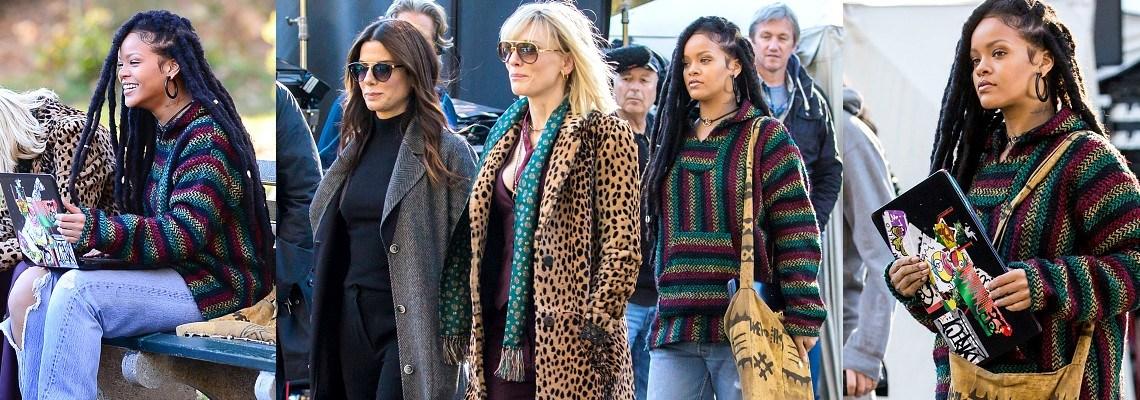 Rihanna, Cate Blanchett and Sandra Bullock film in New York [photos+videos]