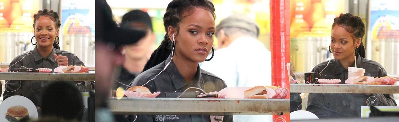 Rihanna and Sandra Bullock film in New York