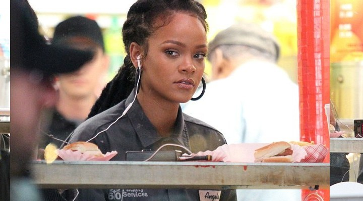 Rihanna and Sandra Bullock film in New York