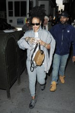 Rihanna out in Manhattan, New York on December 9, 2016 Grey Tracksuit
