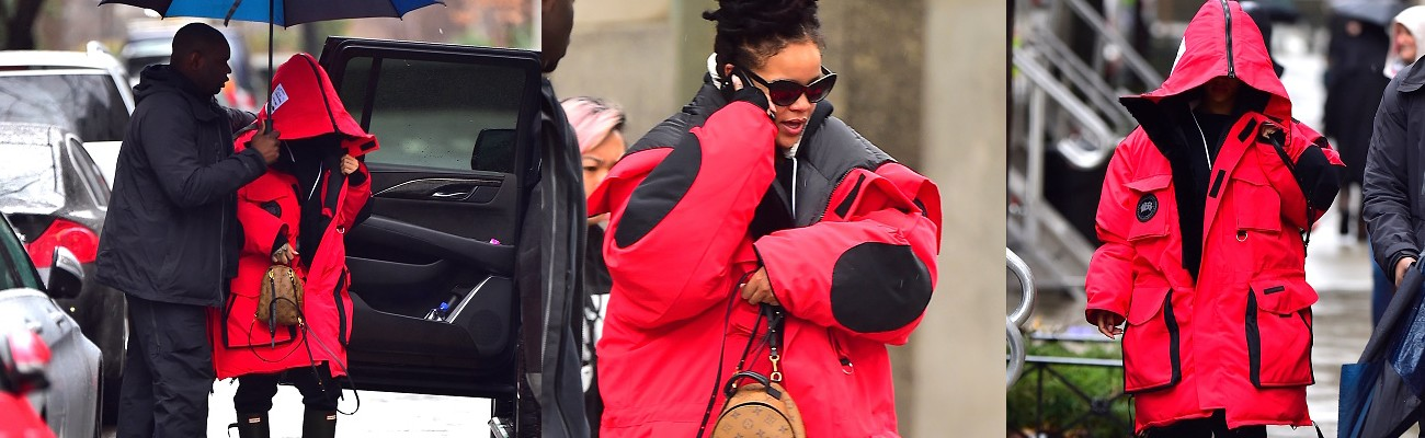 Rihanna rocks dreadlocks in NYC