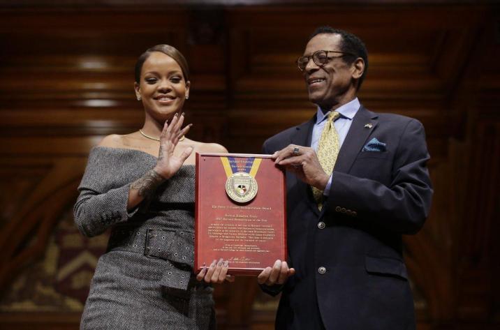 Rihanna receives Harvard Humanitarian of the Year award pictures