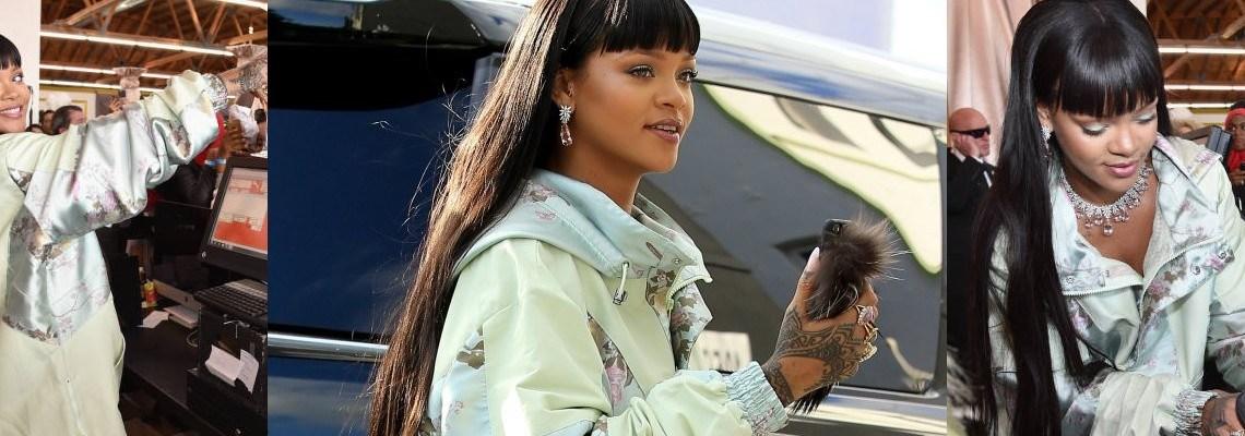 Rihanna opens the FENTYXPUMA pop-up shop in Los Angeles