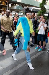 Rihanna arriving at a hotel before MET Gala on May 1, 2017 pictures