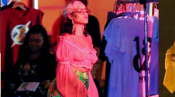 Rihanna shoots a music video in Miami