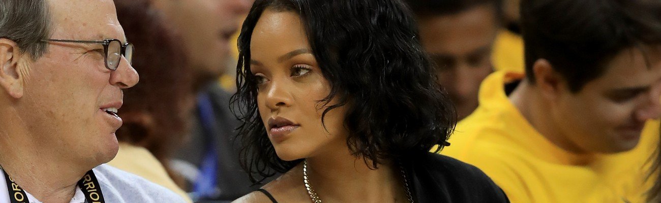 Rihanna attends 2017 NBA Finals game in Oakland