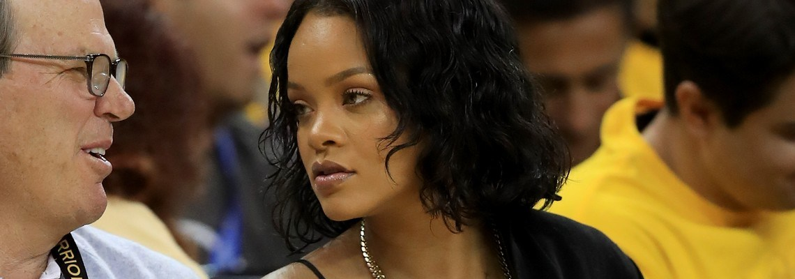 Rihanna attends 2017 NBA Finals game in Oakland