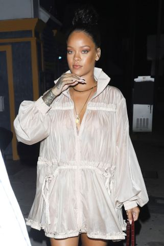 Rihanna steps out in Los Angeles July 12, 2017 Fenty Puma