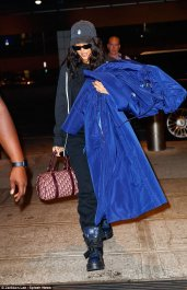 Rihanna arrives at the JFK Airport on September 17, 2017