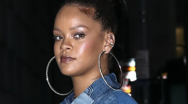 Rihanna rocks denim in New York