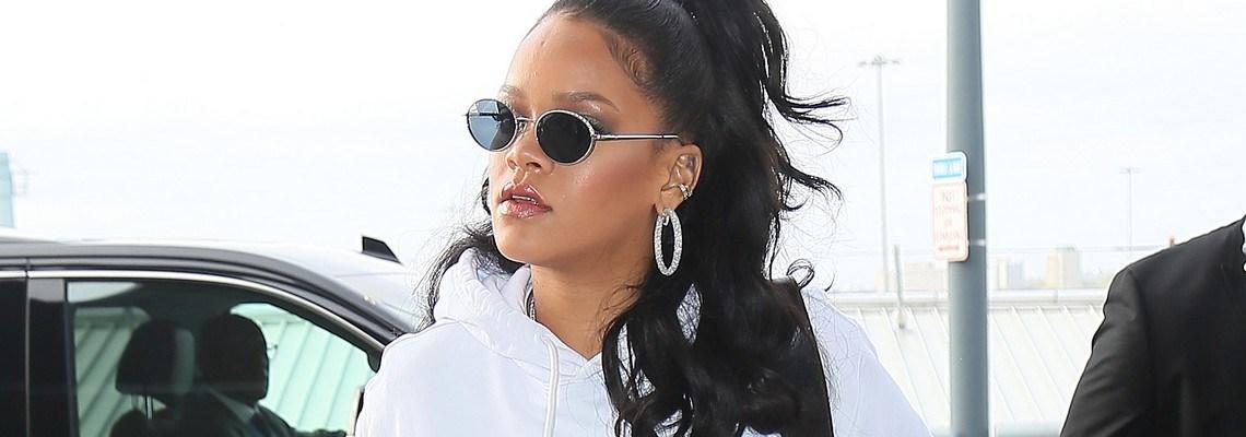 Rihanna leaves New York