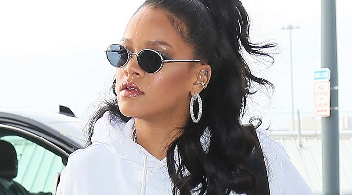 Rihanna leaves New York