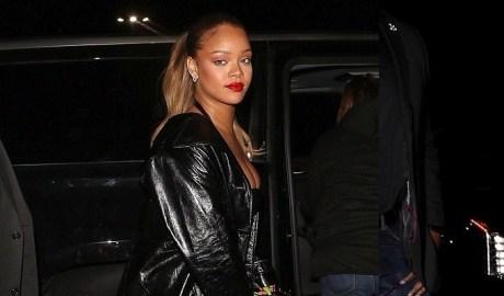 Rihanna attends Jay-Z's concert in Los Angeles