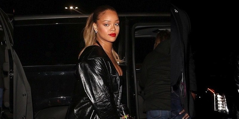 Rihanna attends Jay-Z's concert in Los Angeles