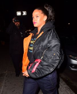 Rihanna parties in New York December 8, 2017