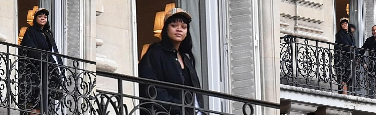 Rihanna spotted in Paris