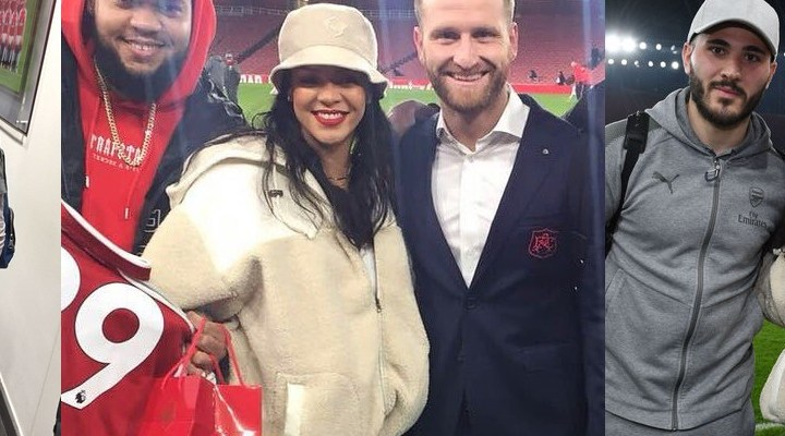 Rihanna attends Arsenal game in London