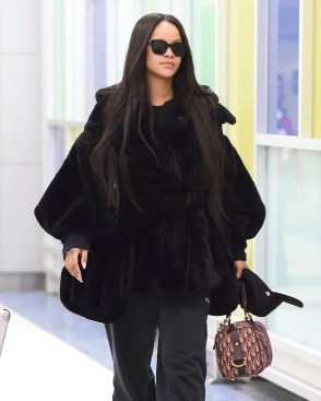 Rihanna spotted at JFK Airport February 16, 2018