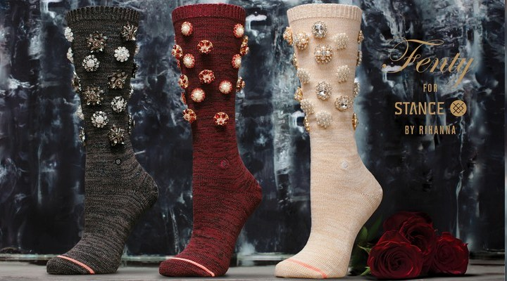 Rihanna and Stance team up for Valentine's collab