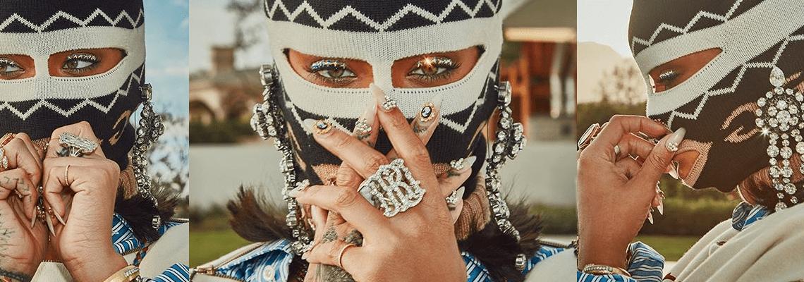 Rihanna rules Coachella in Gucci Balaclava