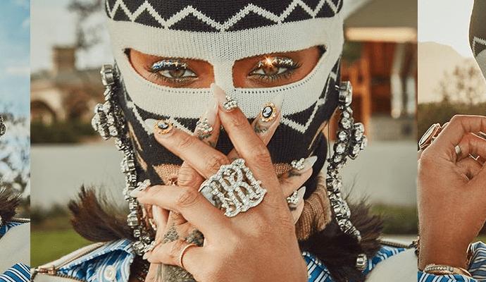 Rihanna rules Coachella in Gucci Balaclava April 15, 2018