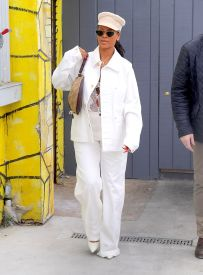 Rihanna at an Art Gallery in New York on May 10, 2018 Daniel Arsham