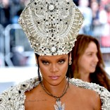 Rihanna attends 2018 Met Gala in New York on May 7, 2018 Red Carpet