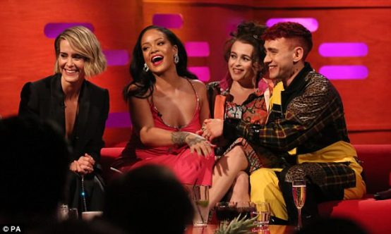 Rihanna and Ocean's 8 take over The Graham Norton Show on June 14, 2018 Pink Dress