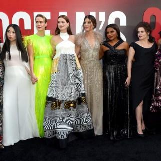 Rihanna attends Ocean's 8 world premiere on June 5, 2018 New York Anne Hathaway
