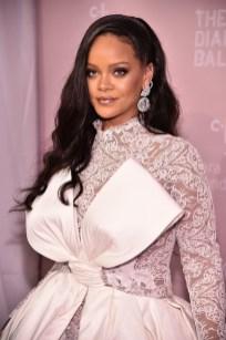 Rihanna attends 2018 Diamond Ball white dress