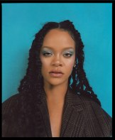 Rihanna covers Allure's October 2018 Issue blue background