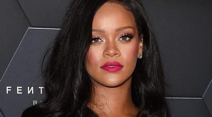 Rihanna at Fenty Beauty's anniversary party
