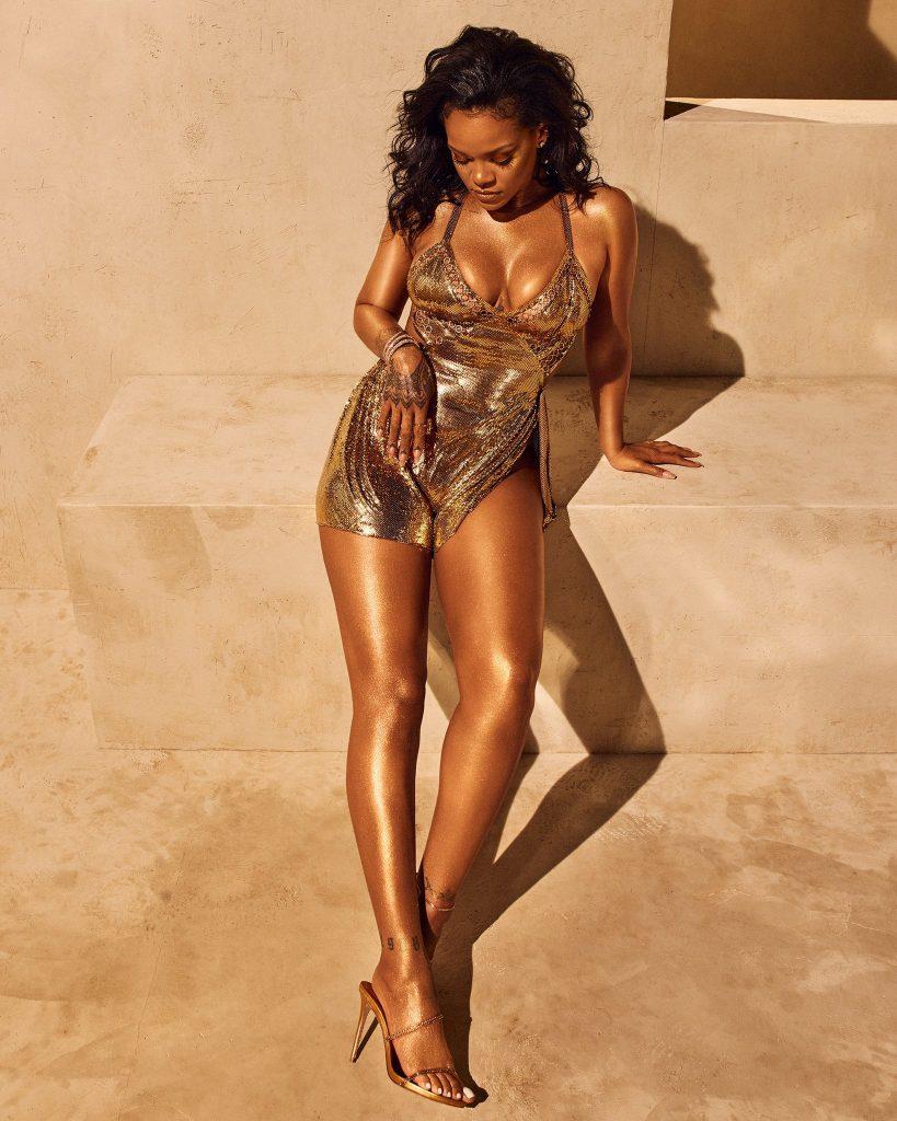 Rihanna for Fenty Beauty Body Lava Trophy Wife promo