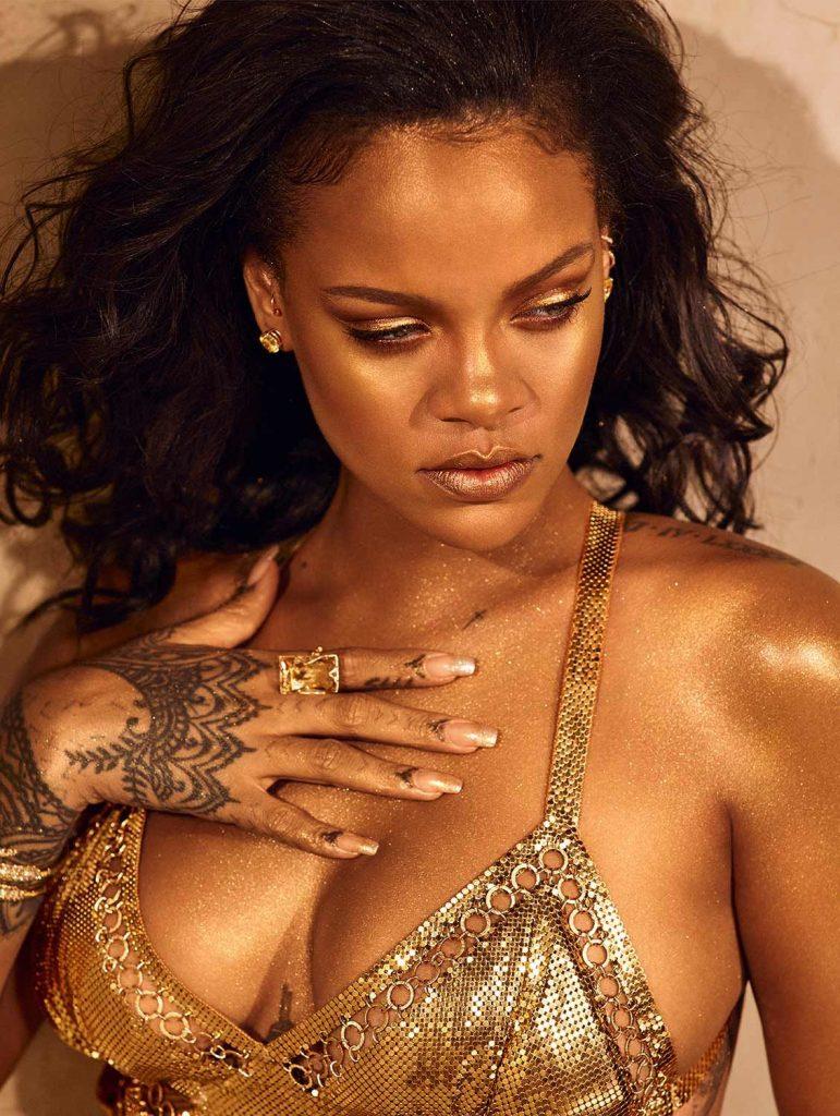 Rihanna for Fenty Beauty Body Lava Trophy Wife close up