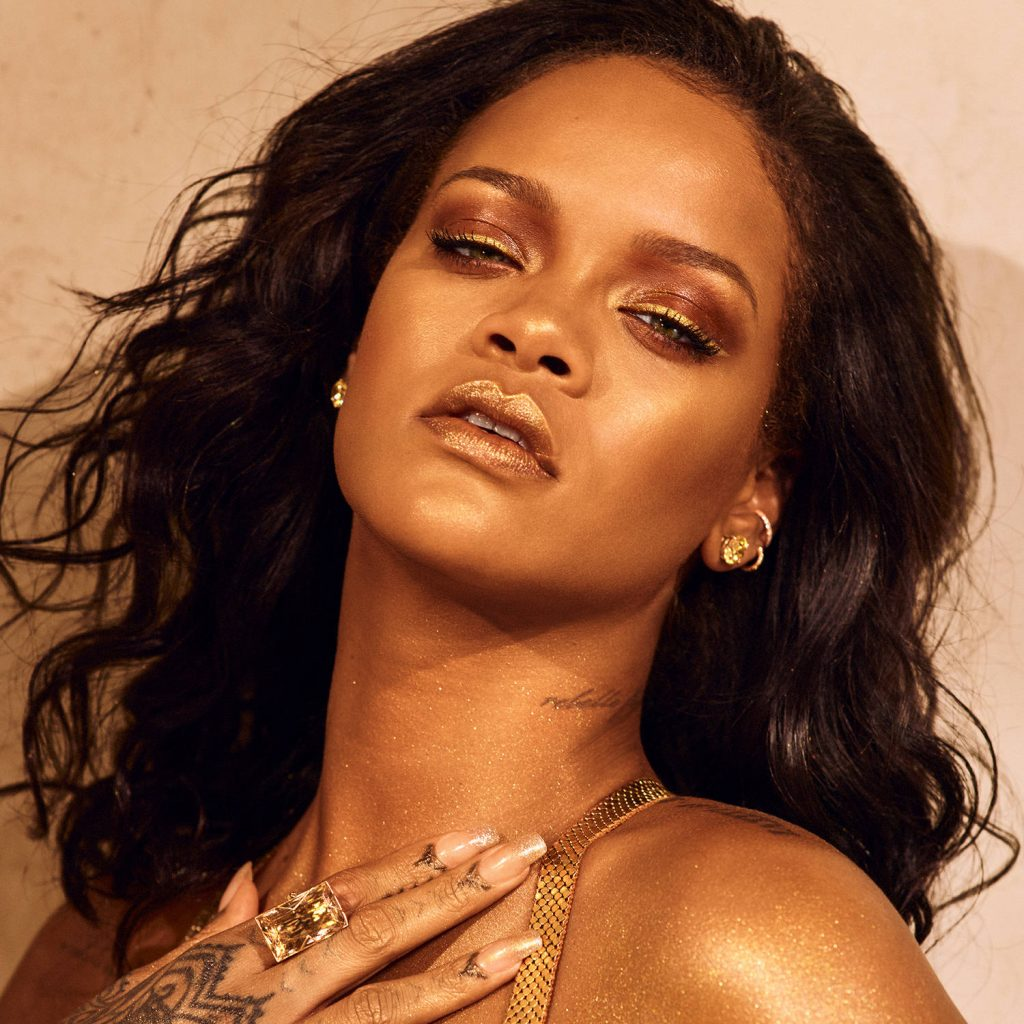 Rihanna for Fenty Beauty Body Lava Trophy Wife promo close up